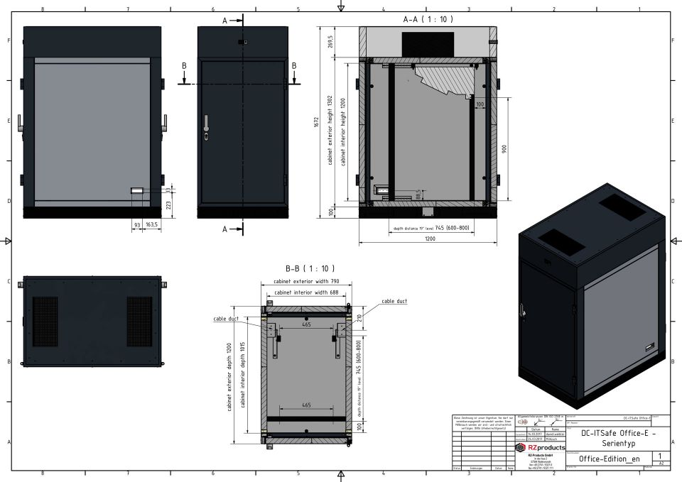Technical-drawing-DC-ITSafe Office Edition